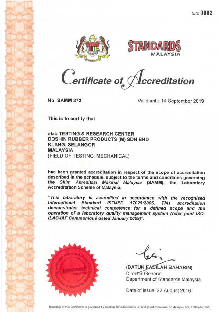 Quality Certifications Doshin Rubber Engineering Go Beyond