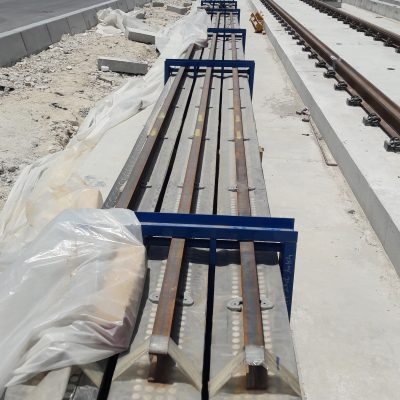 APS rail stored at site
